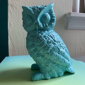 Aqua blue ceramic owl - vintage